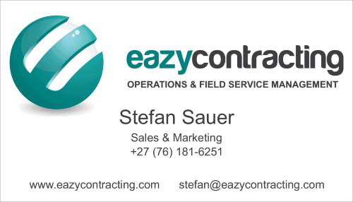Eazy Contracting Business Card