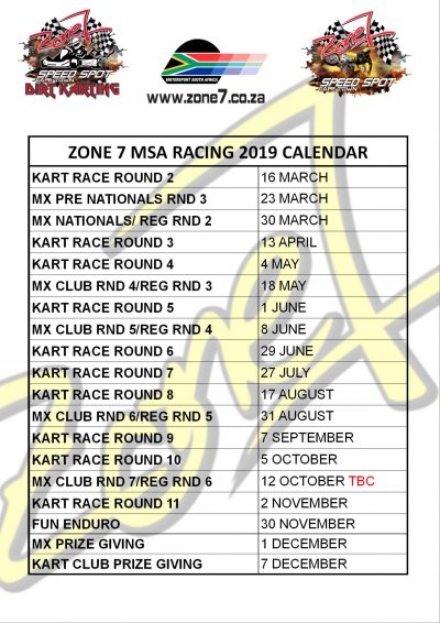 2019 Events Calender
